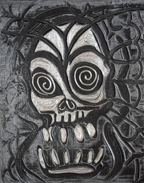 Gunmetal Skull by Laura Barbosa - display