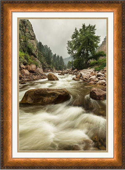 South St Vrain Canyon Portrait Boulder County Co Framed Print